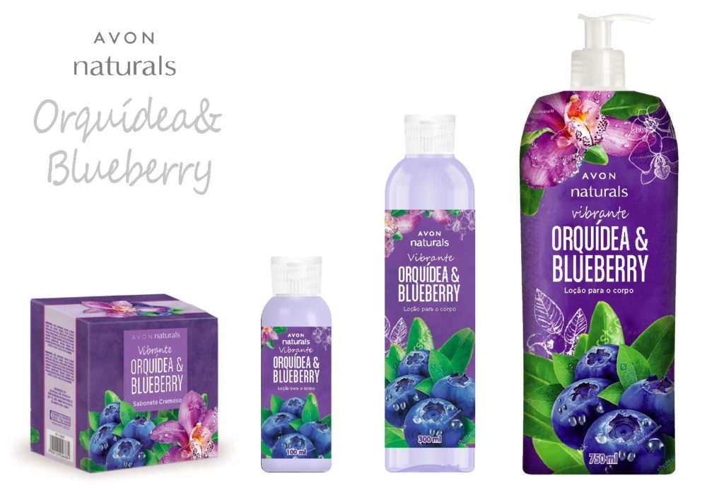 AVON NATURALS BRAZILIAN LINE BLUEBERRY AND ORCHIRD