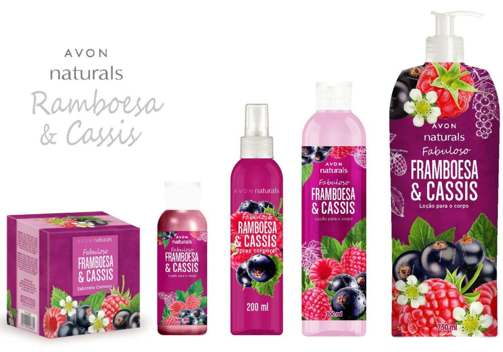 AVON NATURALS BRAZILIAN LINE RASPBERRY BLACK CURRANT