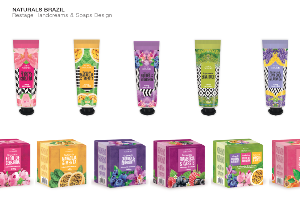 AVON NATURALS BRAZILIAN LINE HAND CREAMS AND SOAPS